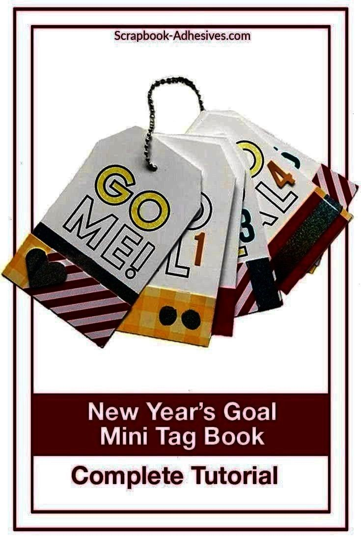 Scrapbook Adhesives by 3L New Years Goals Mini Tag Book  Scrapbook Adhesives by 3L Scrapbook Adhesives by 3L SBAdhesivesby3L Creative Tags with Scrapbook Adhesives by 3L...