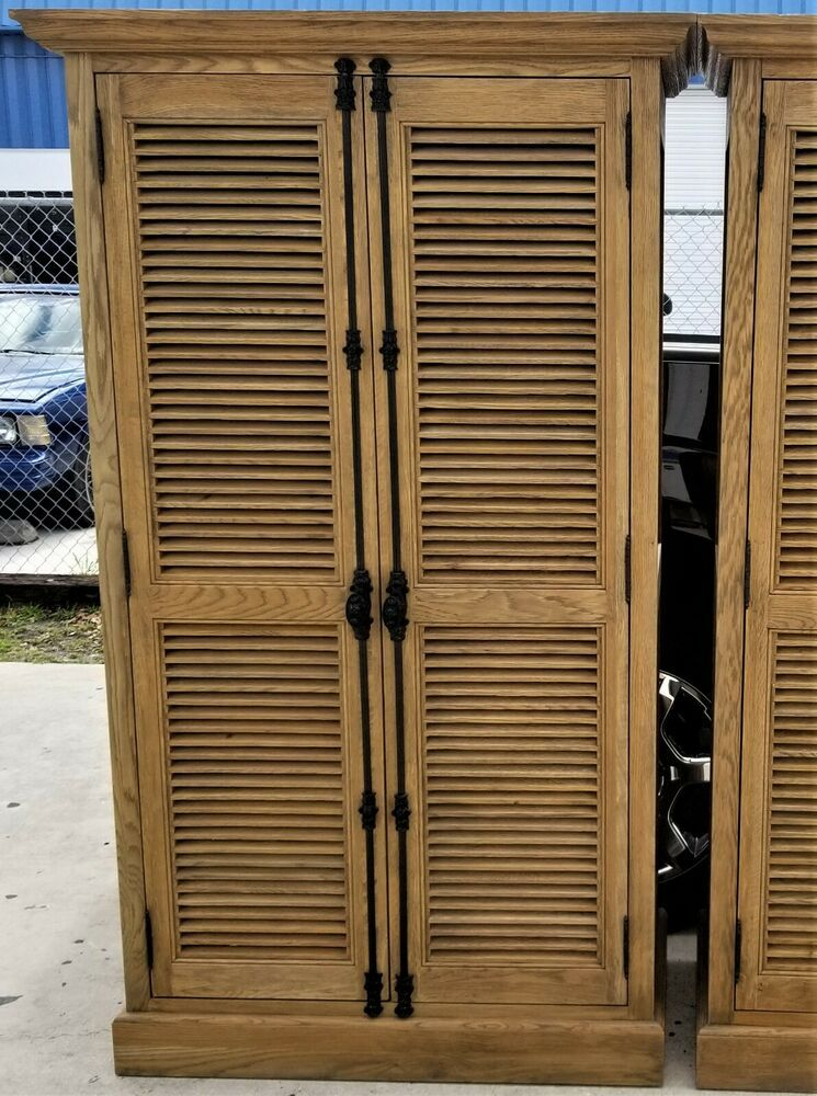 1 Restoration Hardware Shutter Collection Double Door Cabinet Home Garden Furniture Cabinets Restoration Hardware Tall Cabinet Storage Shutter Doors