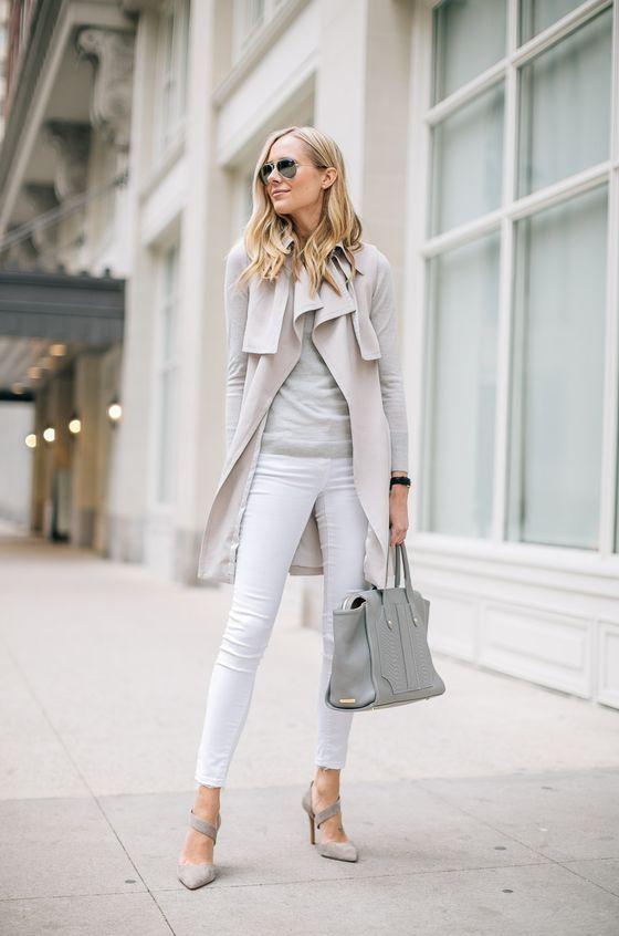 Gray Office Satchel 2017 Street Style