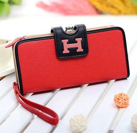 Free shipping stacy's bag hot sale good quality women wallet H lock female fashion purses long design lady clutch hand bag $22.00