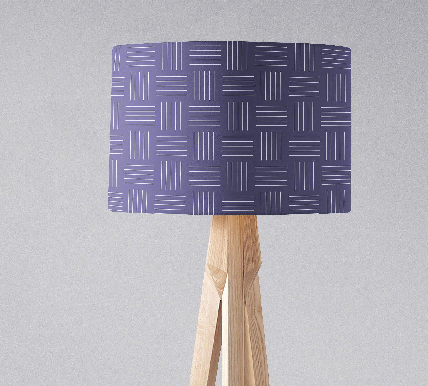 Purple Lampshade Violet Lamp Shade Home Decor Plum Lampshades Geometric