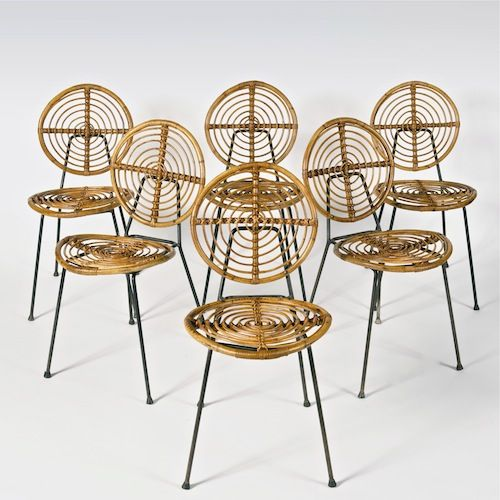 Galerie Riviera Collection Rattan Chair Furniture Vintage Chairs