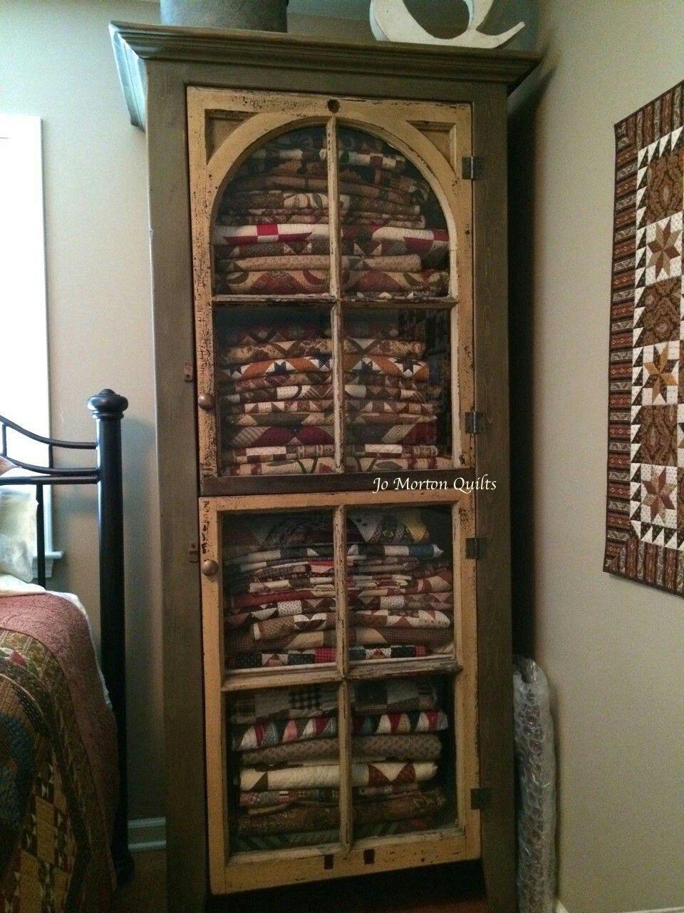 Antique Quilt Cabinet Quilt Storage Quilt Display Quilting Room