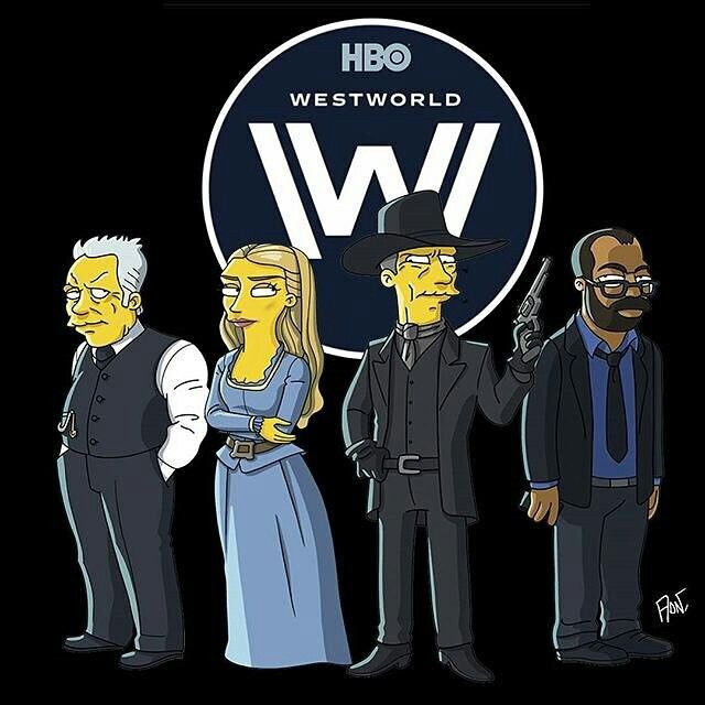Simpsons Ford Dolores Mib And Bernard Westworld