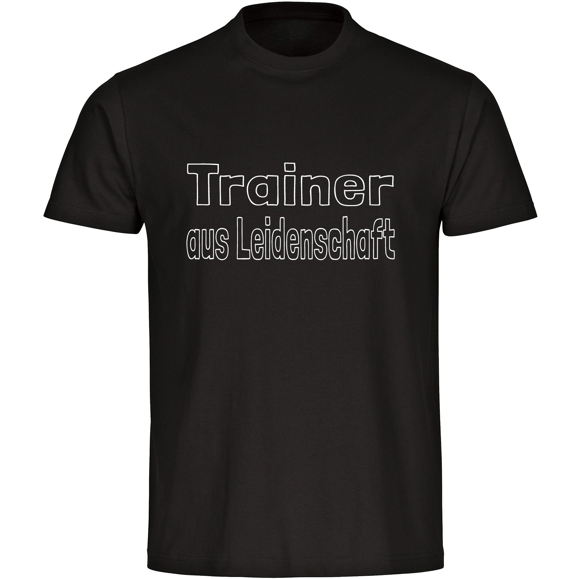t shirt trainer aus leidenschaft herren schwarz du bist trainer durch und durch und dieser job. Black Bedroom Furniture Sets. Home Design Ideas