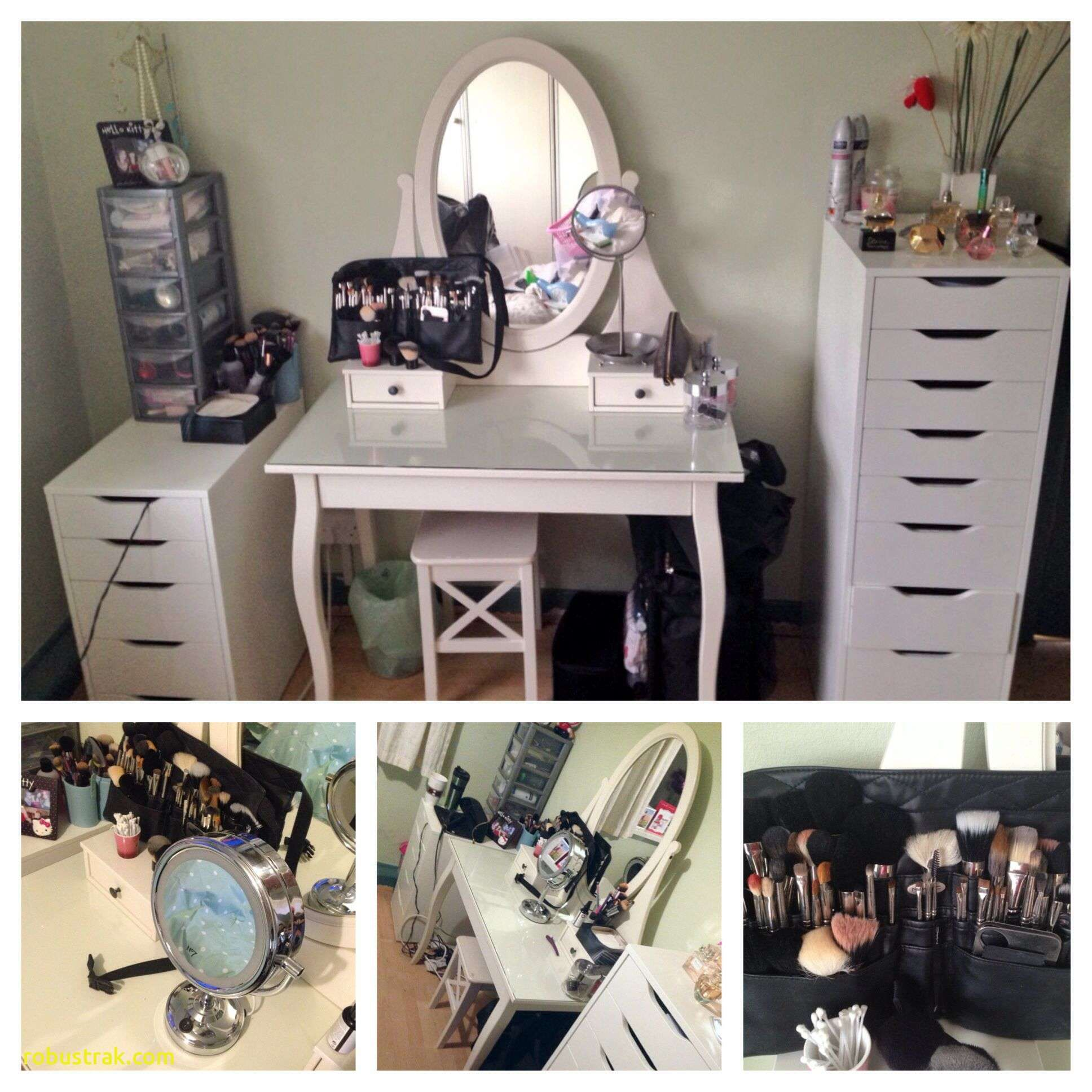 My new and updated vanity ikea hemnes dressing table with alex
