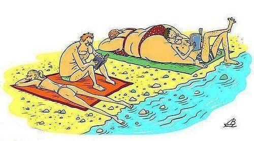 Plage Dessin Humour Humour Funny Cartoons Image Fun