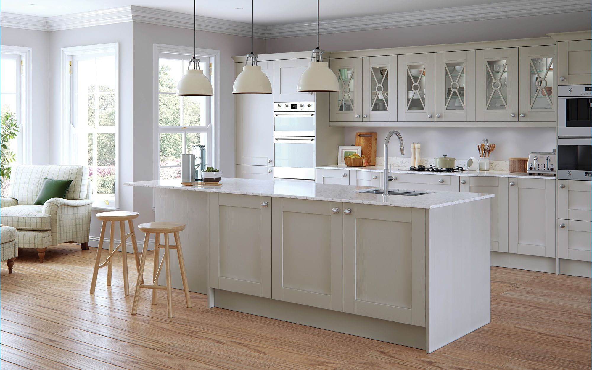 Best Classic Madison Kitchen In Painted Light Grey Light Grey 400 x 300
