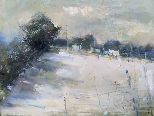 Hannah Woodman Winter Fields And Farm With Images Winter Painting Landscape Artwork Drawing Artist