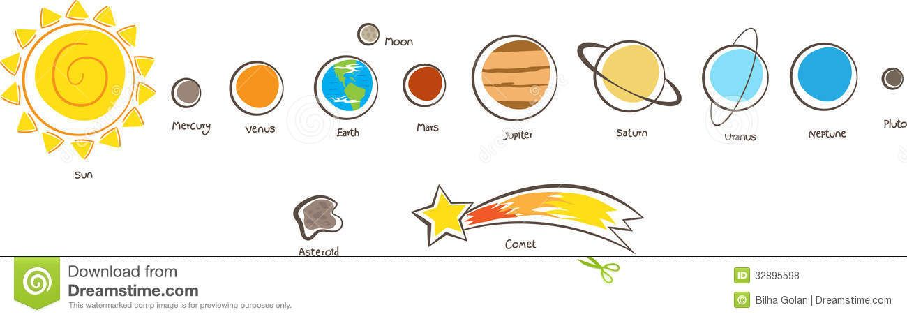 solar system black and white clipart - photo #40