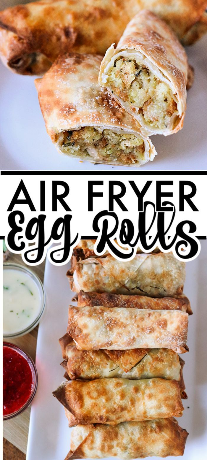 Turkey & Stuffing Air Fryer Egg Rolls are perfect for