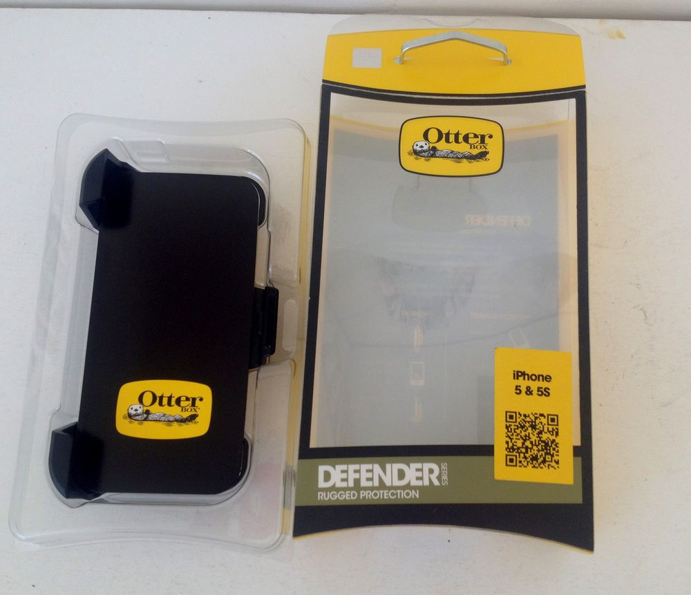 OTTERBOX DEFENDER SERIES BLACK BELT CLIP HOLSTER FOR IPHONE 5 5S #OtterBox