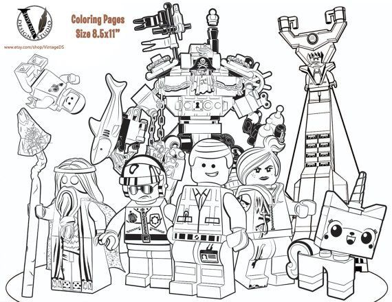 The LEGO Movie Coloring pages - 15 Pages (Game / Games) Birthday ...