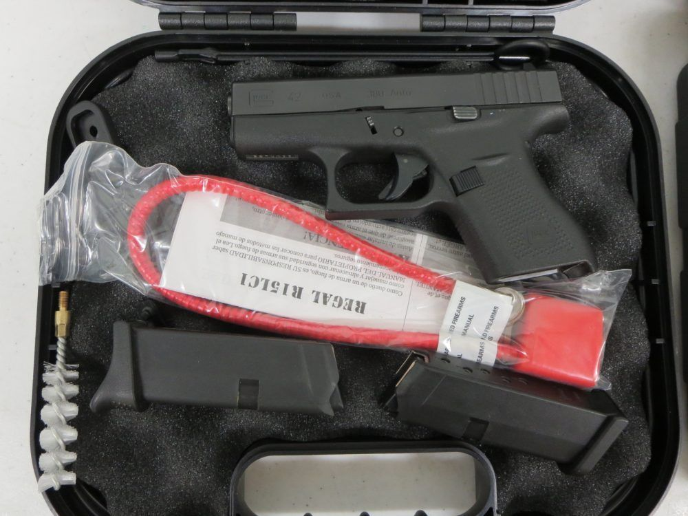 Used Glock 42 380 w/ case and extra magazine $385 -   www - why sop is used