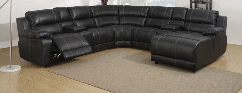 Herom Image Living Room Reclining Sectional Leather Sectional Living Room Trends