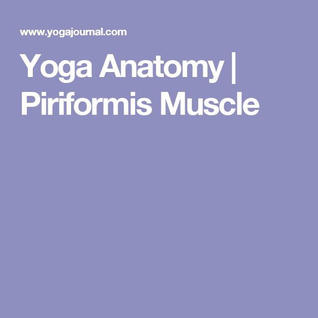 Intro To Anatomy Piriformis Primer Piriformis Muscle Yoga