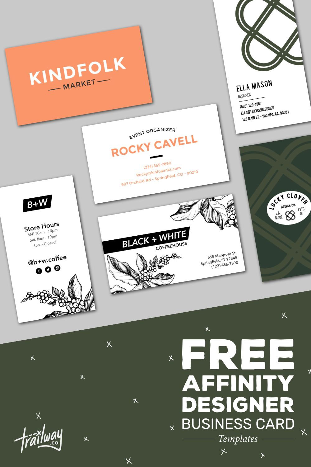 Free Affinity Designer Business Card Templates Beautiful Business Card Business Card Template Business Card Graphic