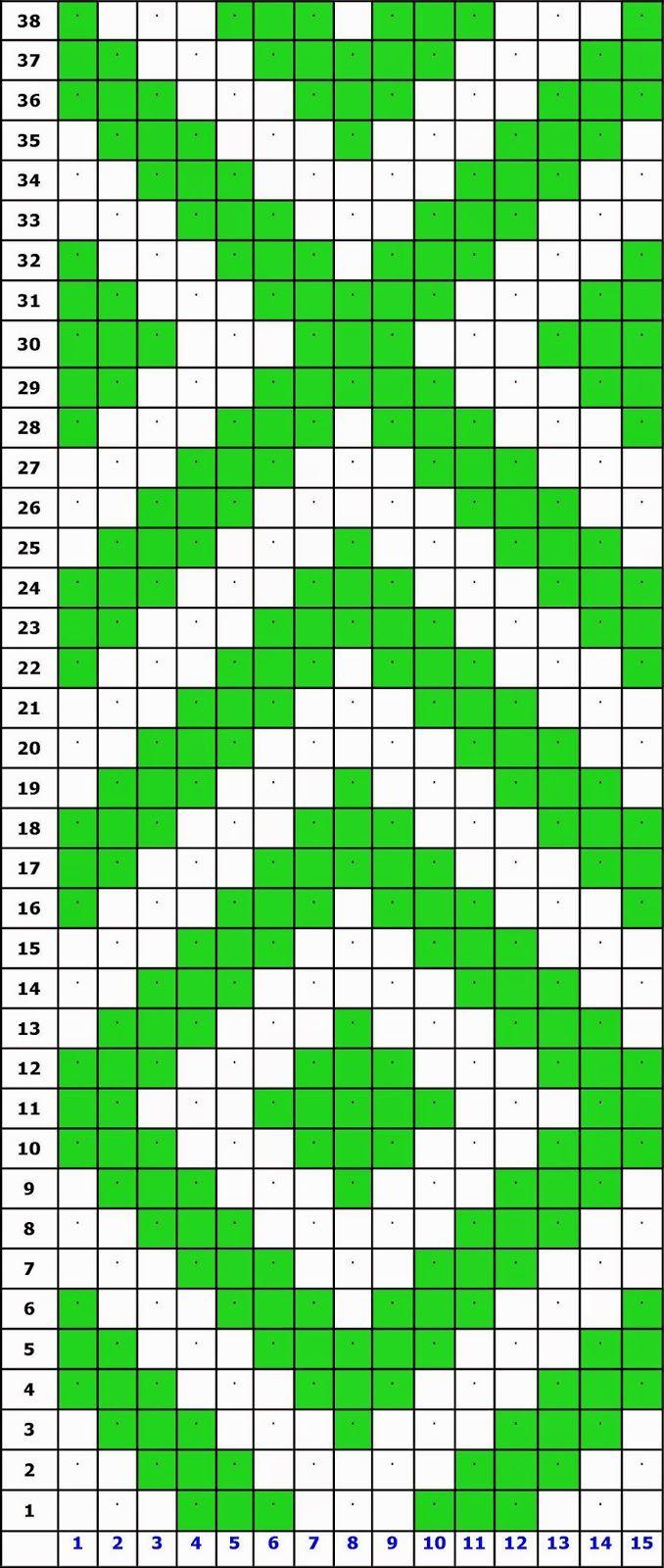 Durham Weaver: Band weaving with 15 pattern threads   Punto cruz ...