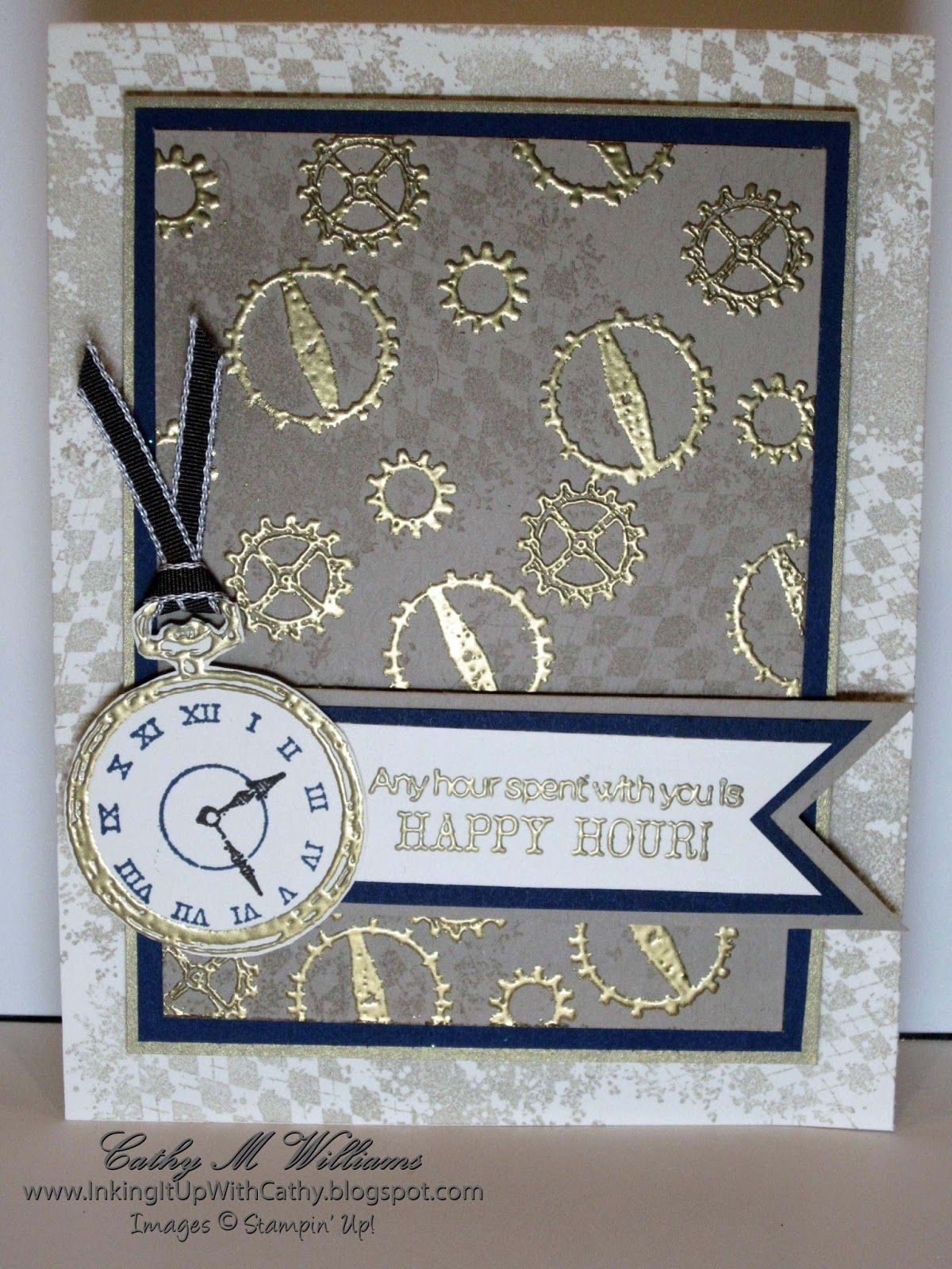 Stampin up clockworks karten uhren pinterest cards