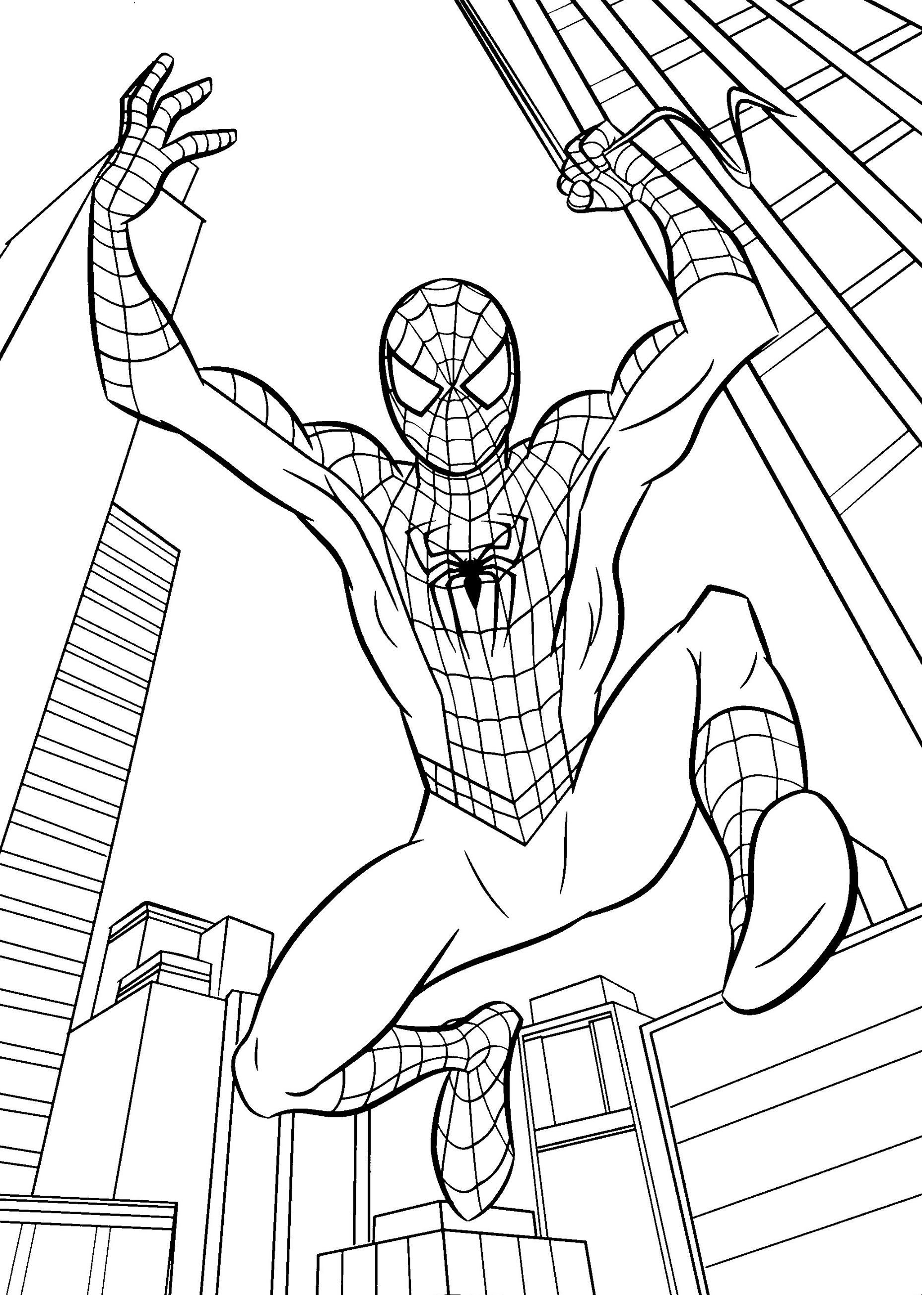 Pin von ColoringsWorld.com auf Spiderman Coloring Pages | Pinterest