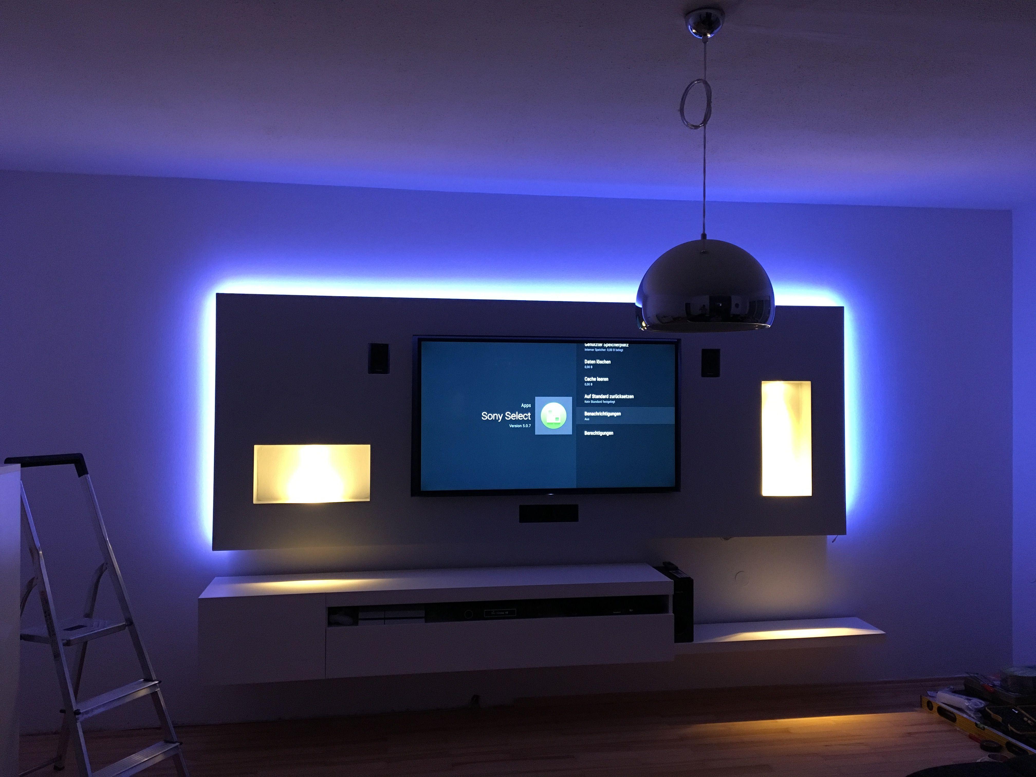 Multimediawand Wohnwand Wall Led Homecinema Wohnwand Ideen Wohnwand Wohnen