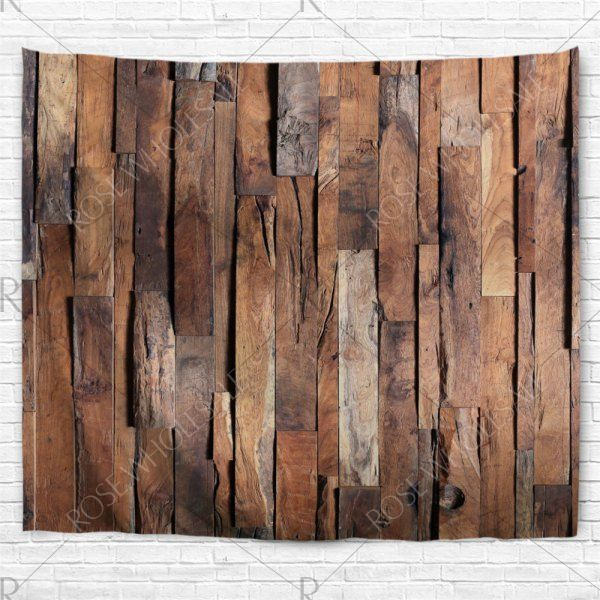 Uneven Wooden Board Print Tapestry Wall Decoration