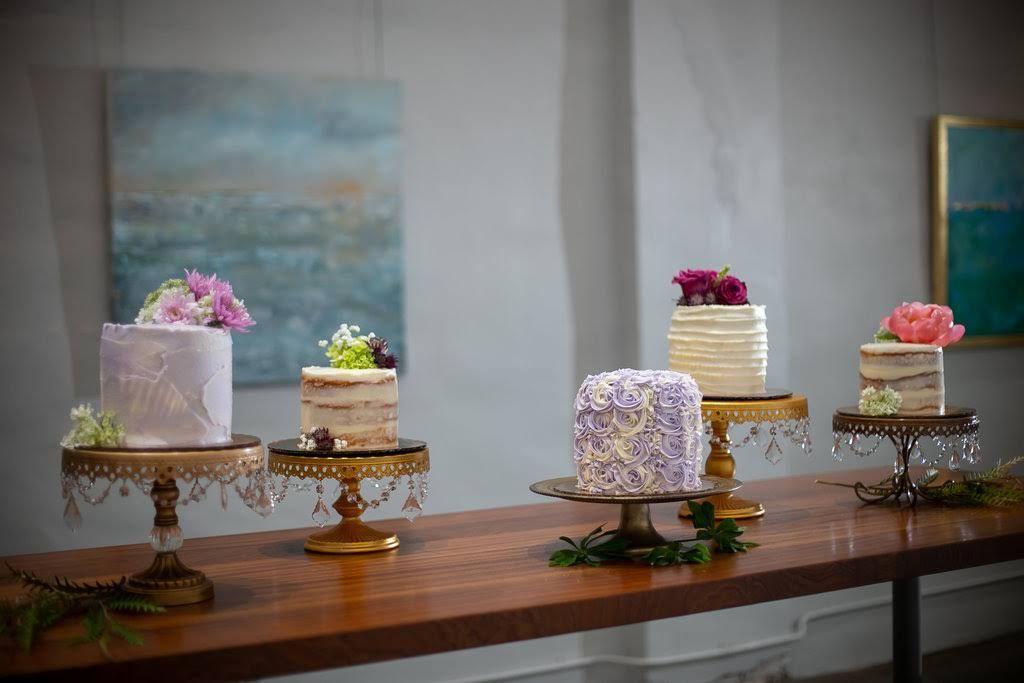 Cake by bakenbabes group wedding reception captured