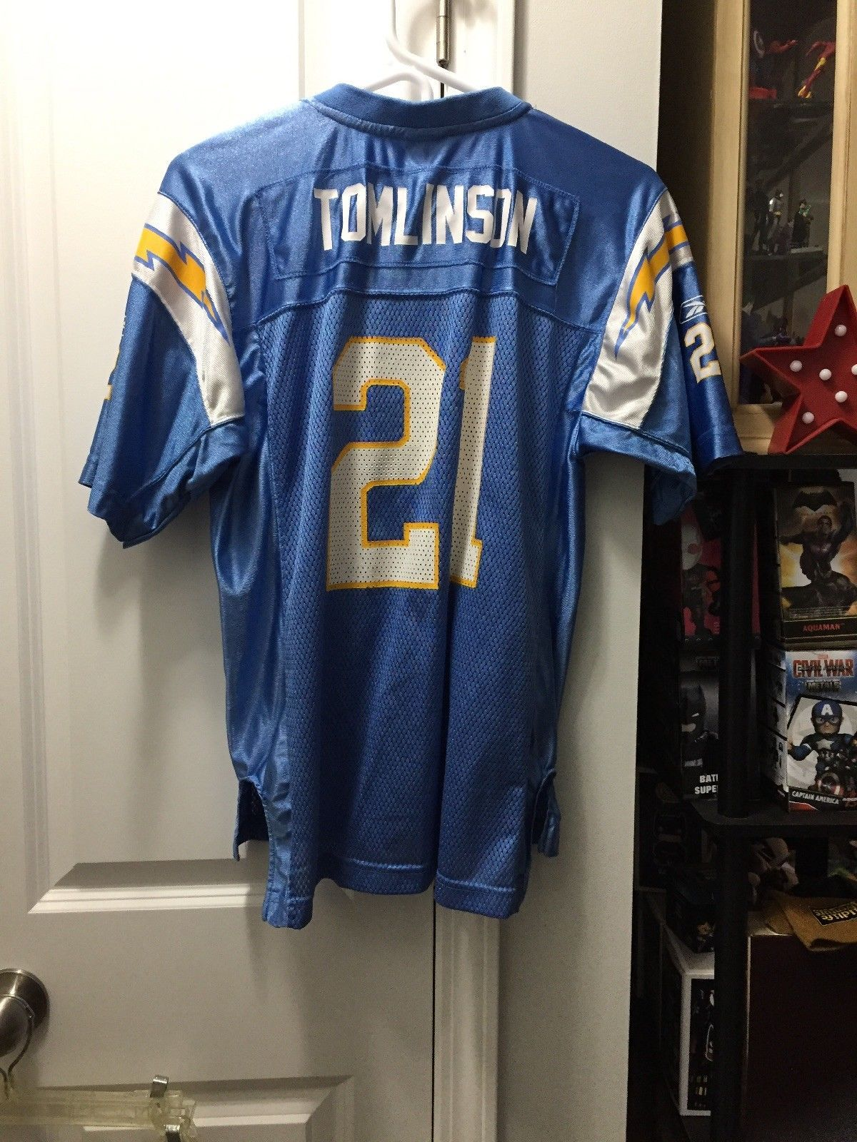 new concept 21a0a 1f01b San Diego Chargers LaDanian Tomlinson #21 Reebok NFL Jersey ...
