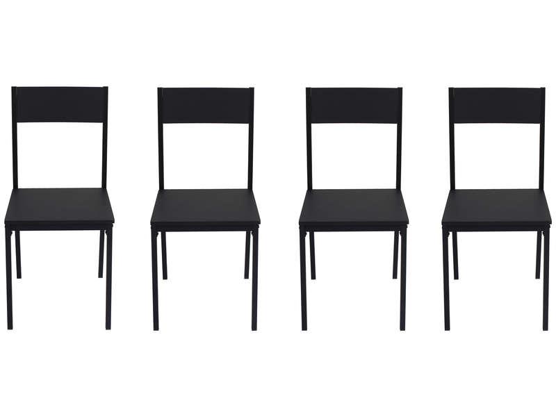 lot de 4 chaises dona coloris noir