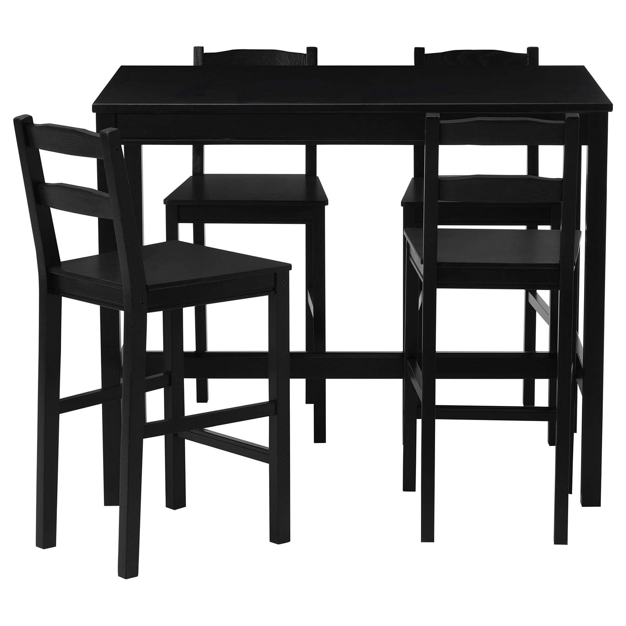 Jokkmokk Bar Table And 4 Bar Stools Black Brown Pub Table And Chairs Bar Table Bar Stools