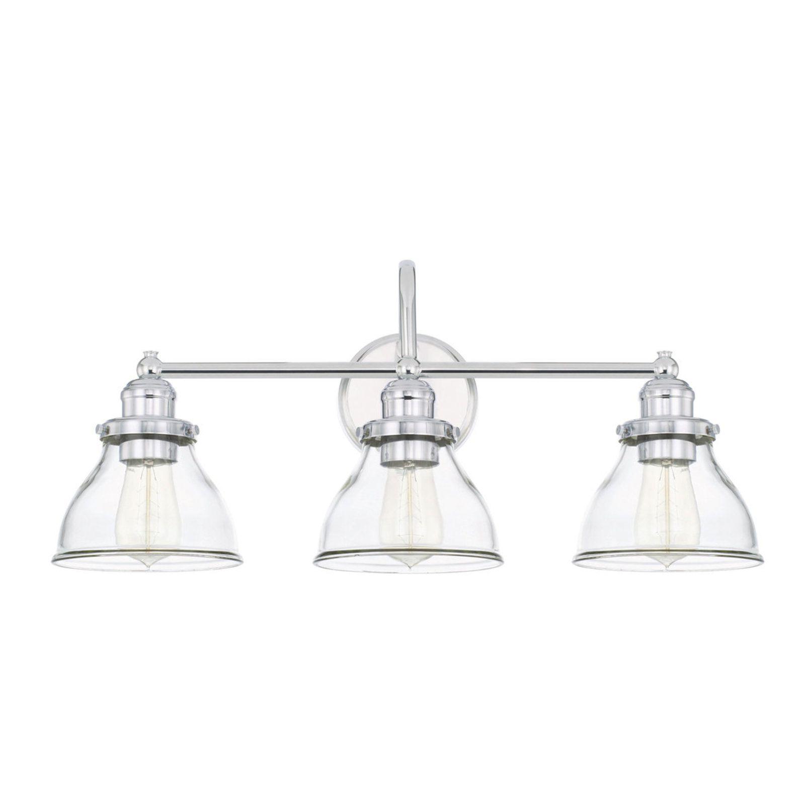 Montpelier Clear Glass Vanity Light 3 Light Glass Vanity