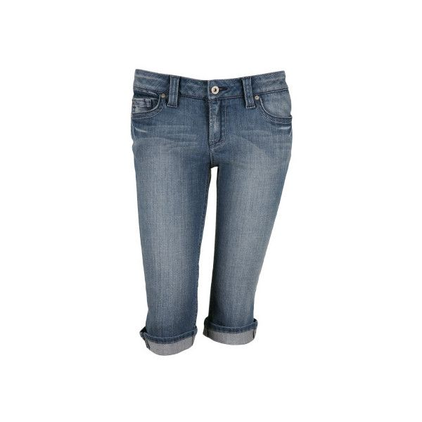 Refuge Premium Denim Lapis Capris ❤ liked on Polyvore featuring bottoms, capris, charlotte russe, jeans and pants