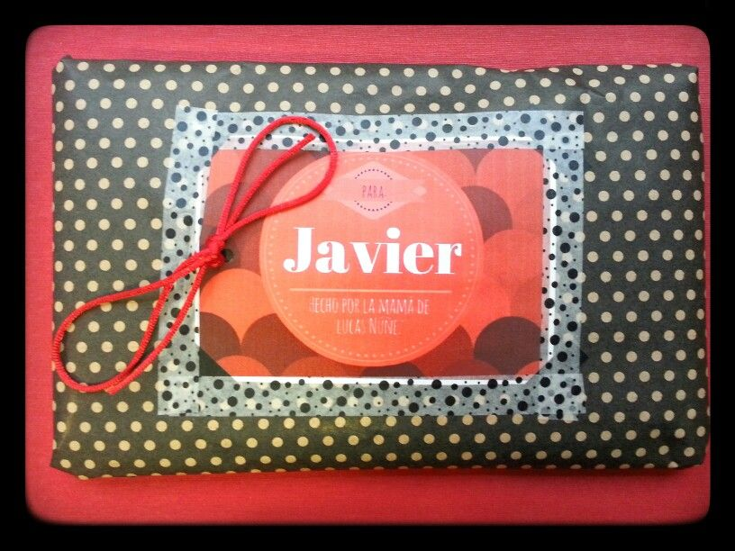 Babero para Javier....