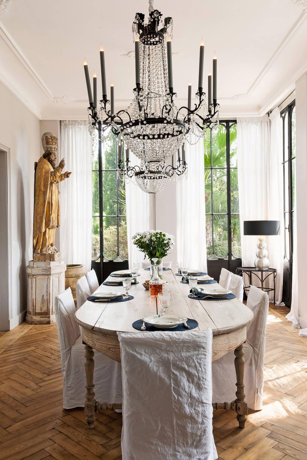 Restored 19th Century Avignon Mansion Fantasy Tour Hello Lovely Country House Decor Living Room Design French