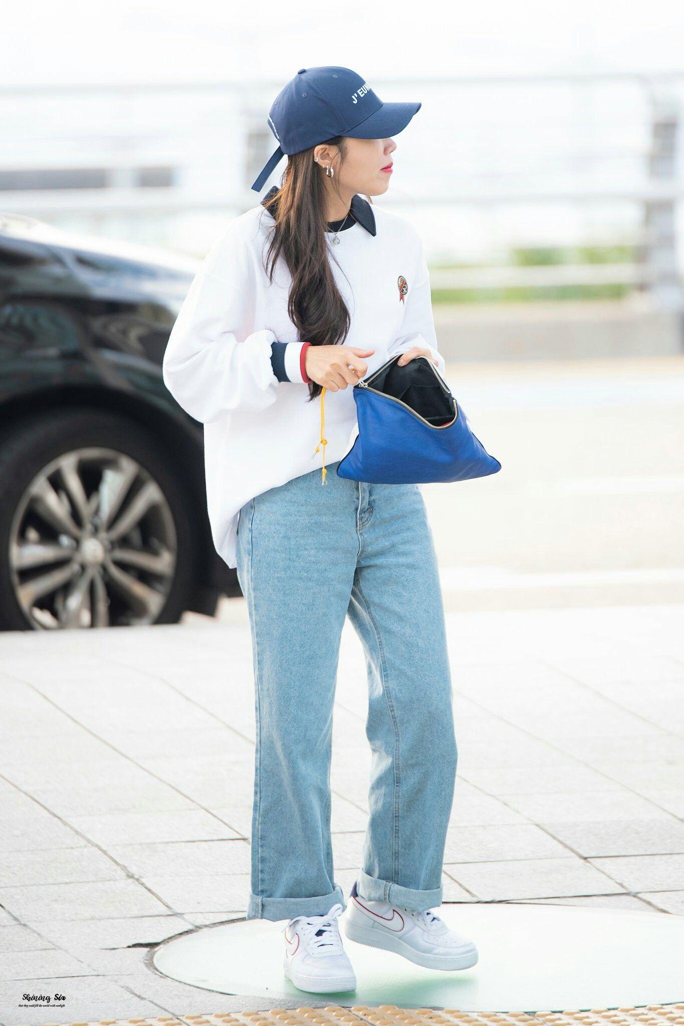 Eunji Airport Fashion Apink Korean Airport Fashion Airport Fashion Kpop Korean Street Fashion