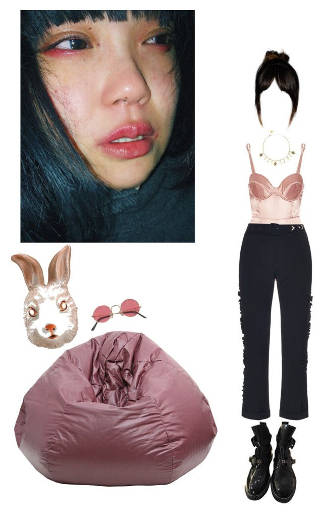 """Silly rabbit, tricks are for kids"" by methlick ❤ liked on Polyvore featuring Fleur du Mal, Preen and Balenciaga"
