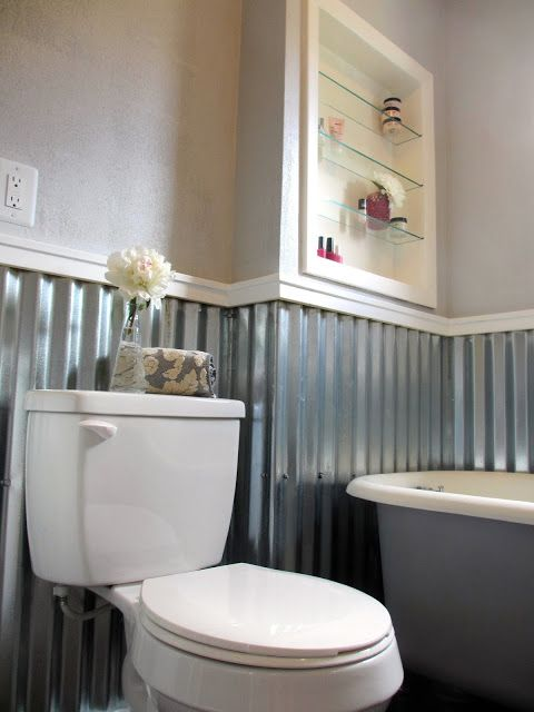 from the desk of kate jones june 2015 chipotle bathroom corrugated sheet metal - Glass Sheet Bathroom 2015