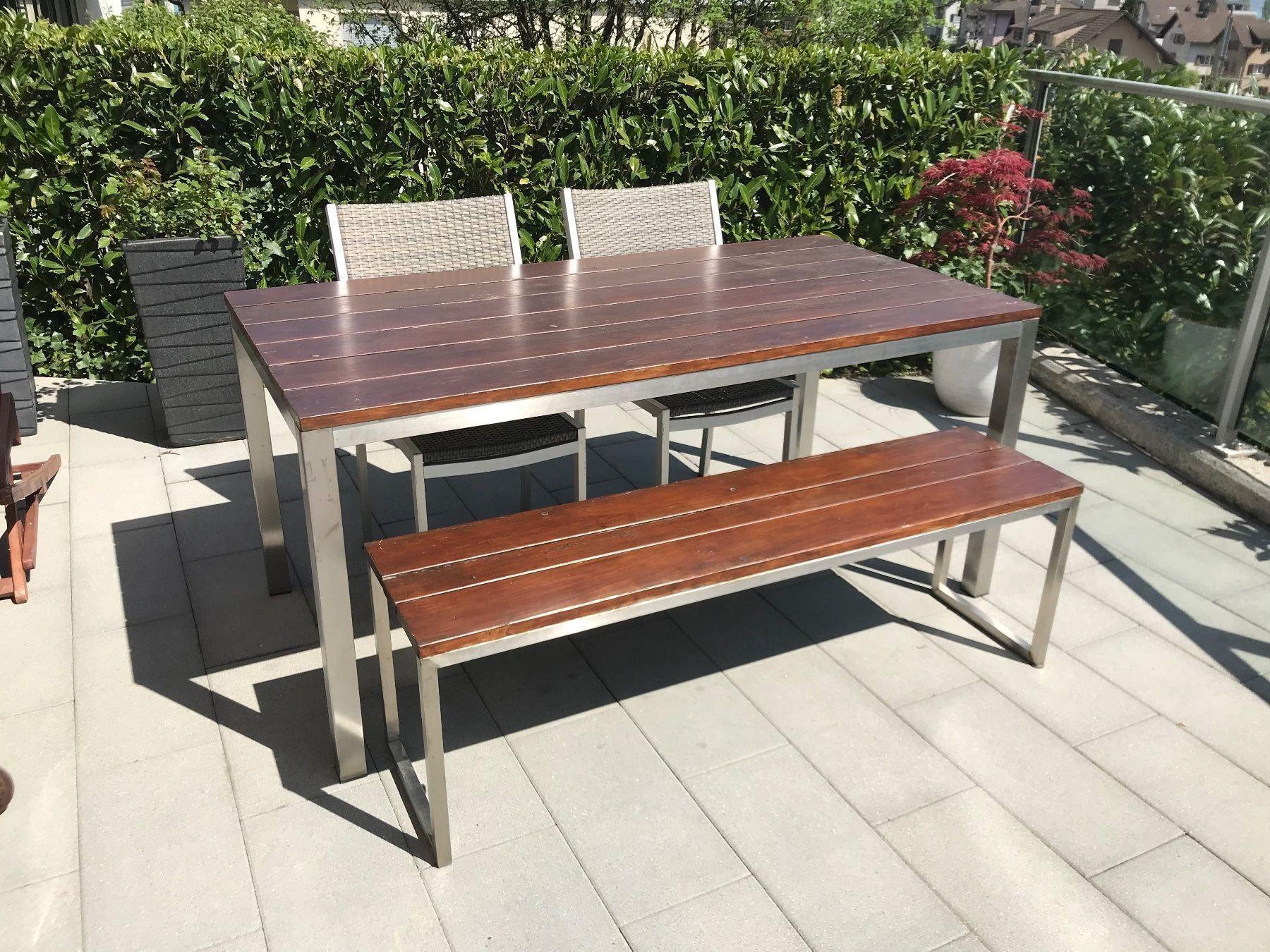 Gartentisch Und Stuhle Holz In 2021 Gartentisch Holz Stuhl Holz Gartentisch Holz Massiv