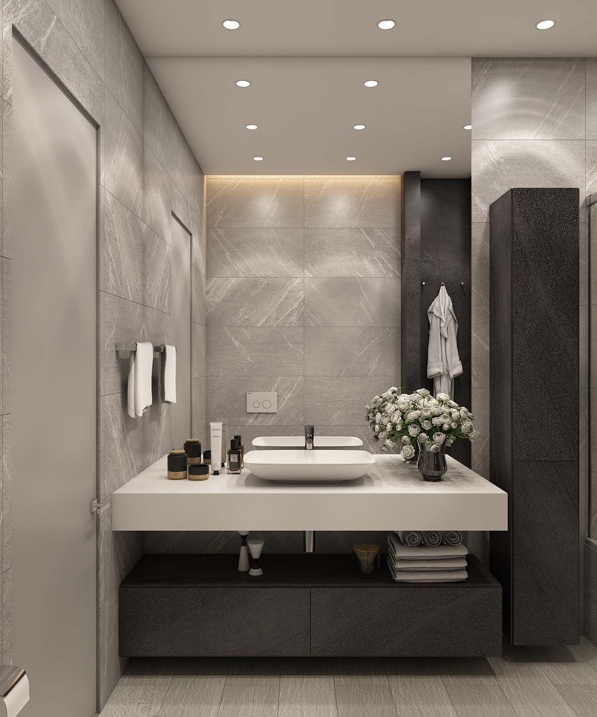 A Simple Modern Apartment In Moscow Bathroom Interior Design Bathroom Interior Modern Bathroom Design