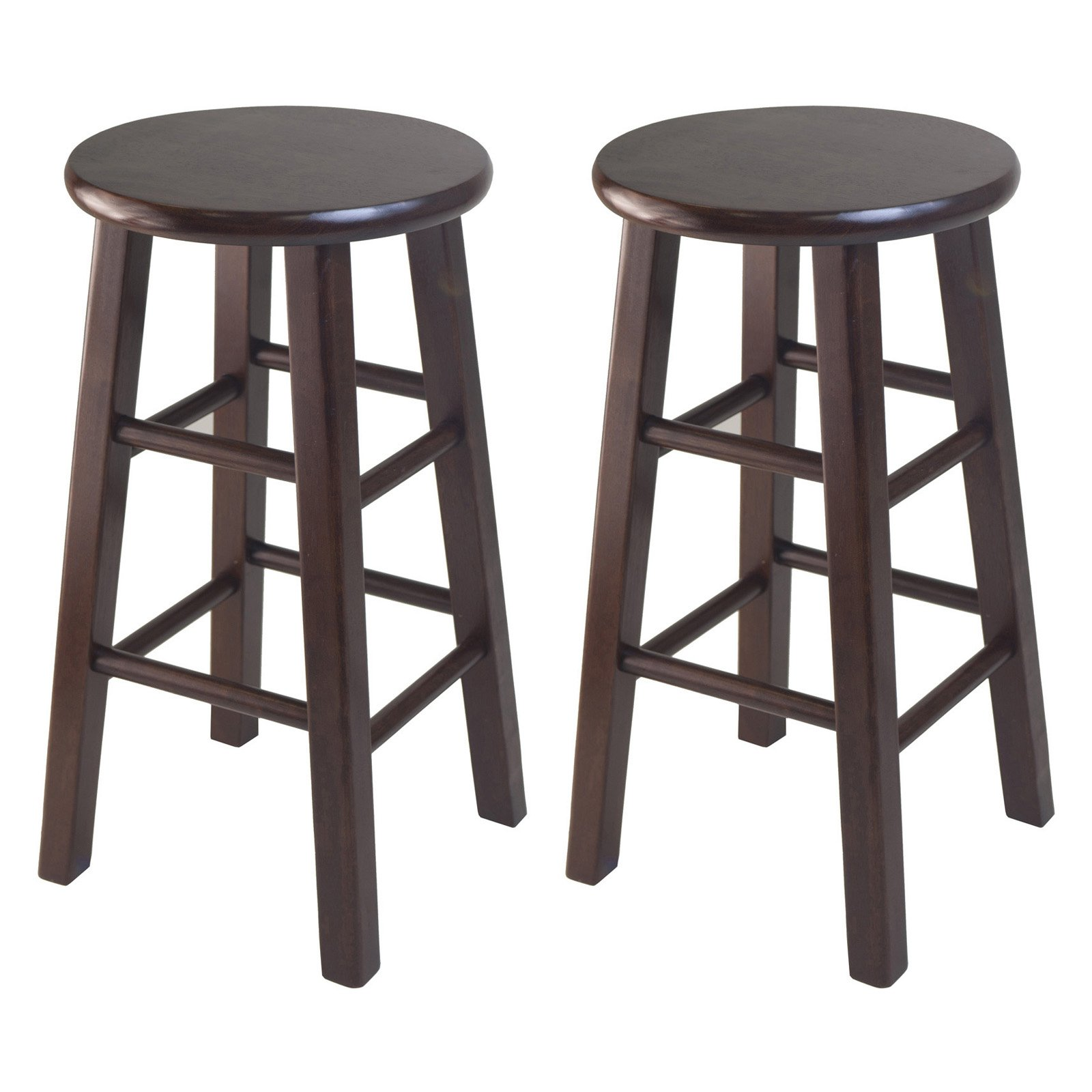 Winsome 24 Inch Square Leg Counter Stool Set Of 2 Counter