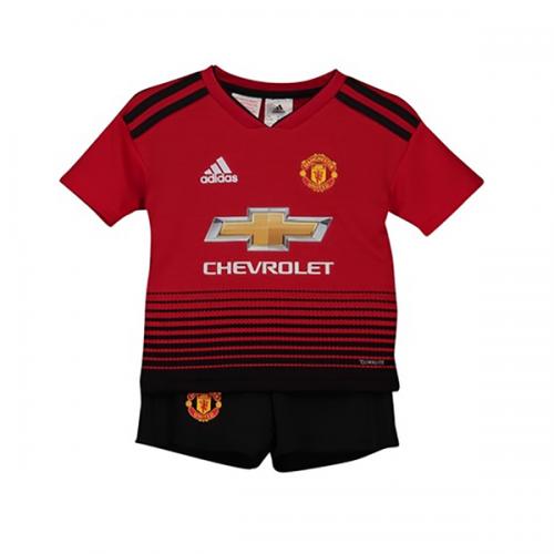 853e7ecdf 18-19 Manchester United Home Children s Jersey Kit(Shirt+Short ...