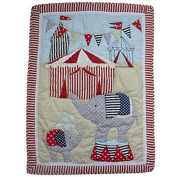 Circus quilt - not on the high street