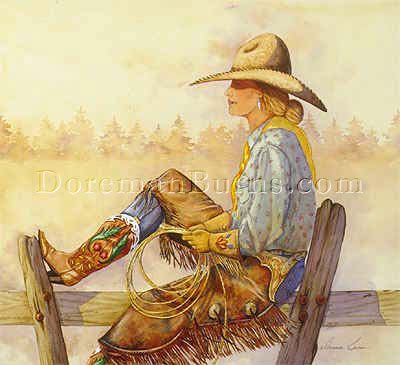 Cowgirl Art and Western Paintings, Art, and Prints | Doreman Burns