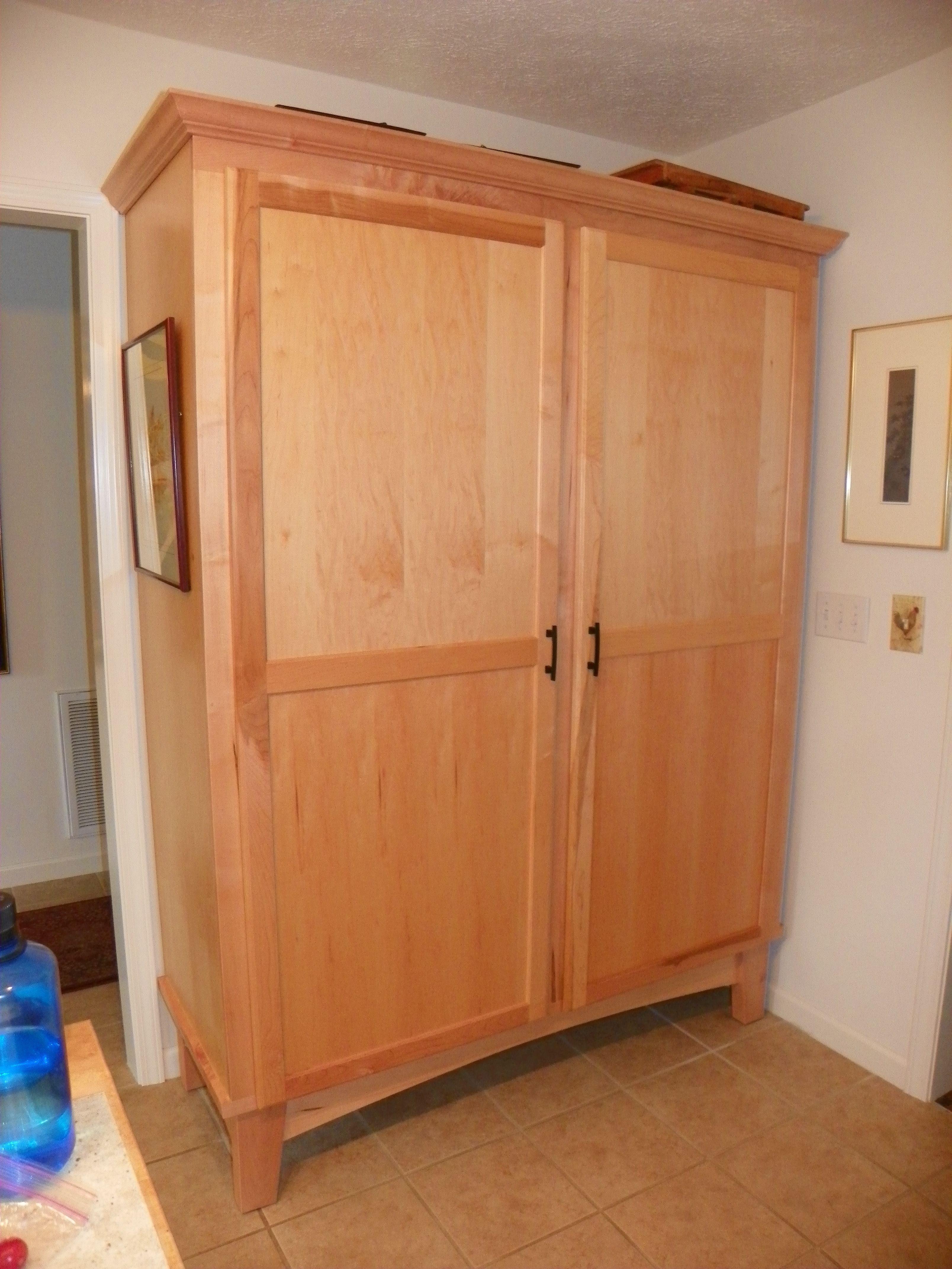 Maple kitchen pantry | Tall cabinet storage, Maple kitchen ...