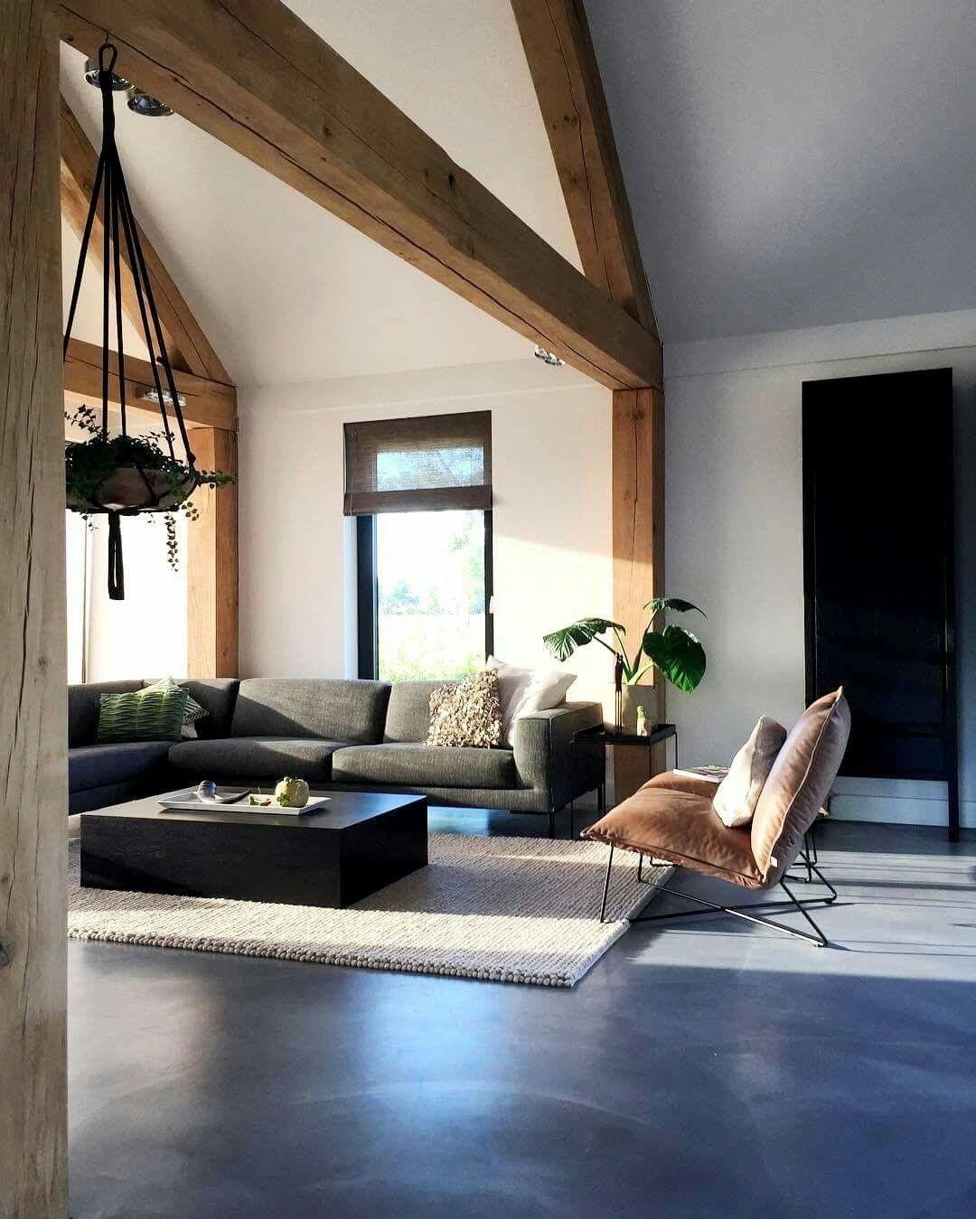 sichtbalken betonboden h user ideen pinterest. Black Bedroom Furniture Sets. Home Design Ideas