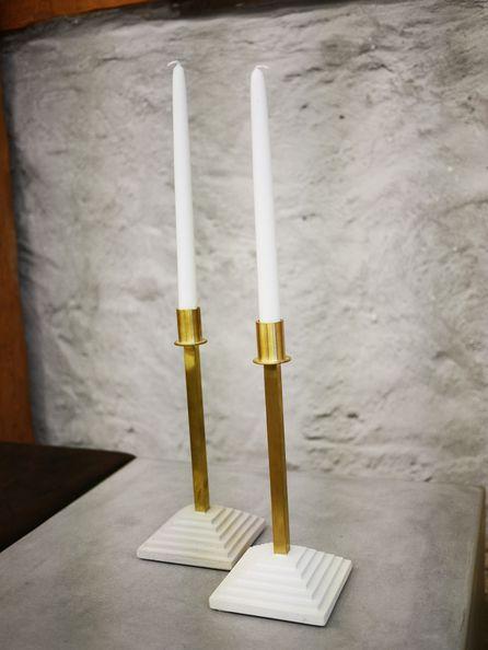 Terrass candlestick brass - Skulpturfabriken - Design Stina Lindholm
