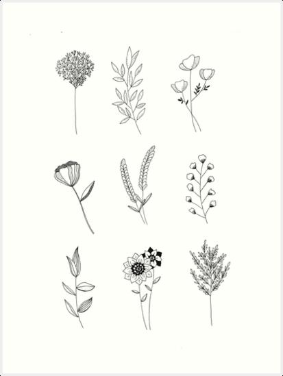 'flowers' Art Print by Clémence Delorme