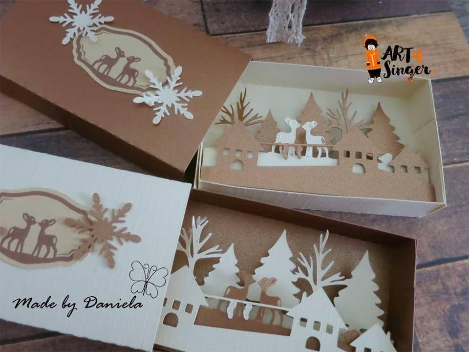Silhouette Plotter File Free Plotter Datei Kostenlos Plotter Freebie Weihnachten Christmas Wi Weihnachtskarten Scherenschnitt Weihnachten Winterlandschaft