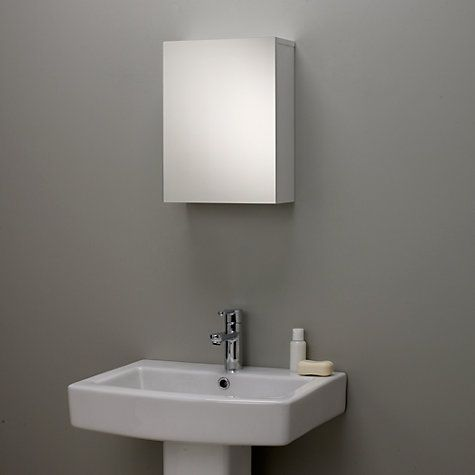 buy john lewis gloss single mirrored bathroom cabinet small online at johnlewiscom