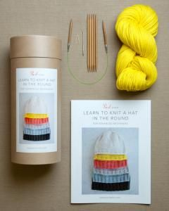 purl soho | products | item | learn to knit a hat in the round kit (purl soho)